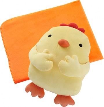 吉祥雞造型暖手抱枕(附保暖毯) A款式