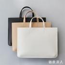 韓版公事包女新款手拎包女手提包OL商務辦公包筆電包公文包文件袋 LJ4934【極致男人】