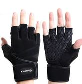 KHUITEN 熱銷進階款 矽膠防滑耐用舉重手套XL號(黑色)