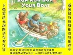 二手書博民逛書店Row罕見Row Row Your Boat 划船歌 英文原版Y