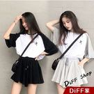 【DIFF】韓版氣質學生風運動套裝 短裙...