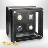 【Jebely】機械手錶自動上鍊盒 簡潔美感設計 JBW223 消光黑 四手錶轉台 搖錶器 動力儲存錶機 台灣製