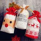 1入 聖誕禮物束口袋 聖誕節糖果袋 餅乾袋 束口袋 巧克力袋 耶誕節 聖誕老人福袋禮物袋 抽繩袋