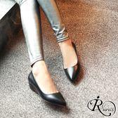 韓系時尚OL素面尖頭平底包鞋/35-39碼/4色 (RX0082-176-1) iRurus 路絲時尚