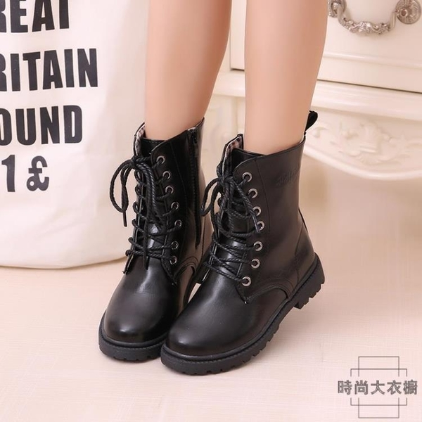 童靴靴子男女童兒童靴子短靴中大童馬丁靴【時尚大衣櫥】