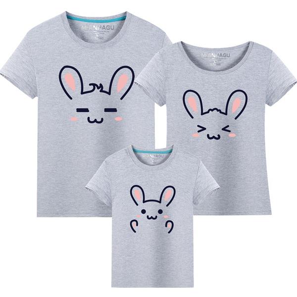 ★韓版MH-S1721《可愛表情兔》短袖親子裝♥情侶裝♥多色可選