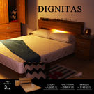 狄尼塔斯5尺雙人房間組-3件式(床頭+床底+床頭櫃)[柚木]【DD HOUSE】
