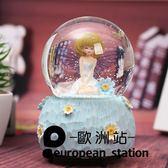 音樂盒/雪花水晶球旋轉八音盒【歐洲站】