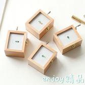 交換禮物 木質相框手搖音樂盒