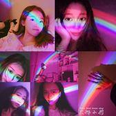 led小夜燈韓國ins彩虹燈拍照神器燈夜燈床頭台燈usb喂奶攝影投影   米娜小鋪igo