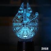 3D創意視覺立體七彩觸摸小夜燈LED裝飾 BF1591『男神港灣』