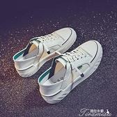 透氣小白鞋女年流行鞋子夏季新款百搭懶人休閒板鞋一腳蹬白鞋 快速出貨
