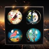 一套 立體冰箱貼磁貼禮品水晶玻璃禮盒【步行者戶外生活館】