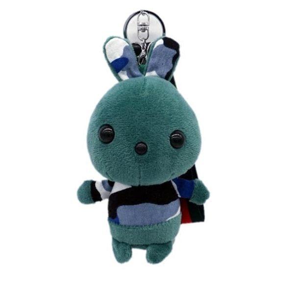 【萬聖節促銷】創意小兔毛絨掛件迷彩兔鑰匙扣後背包掛飾汽車鑰匙鍊女生可愛小禮物