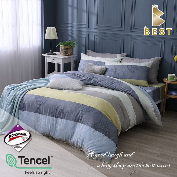 【BEST寢飾】天絲床包兩用被四件組 加大6x6.2尺 非凡 床高35cm 頂級天絲 附TENCEL天絲+3M雙吊牌