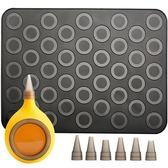 耐高溫馬卡龍模具硅膠墊子家用烘焙餅干曲奇裱花槍工具套裝   蜜拉貝爾