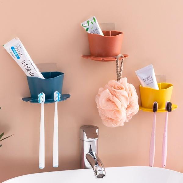 免打孔牙刷收納架 牙刷架 簡約牙刷架 置物架 壁掛式牙刷架 牙刷掛架 浴室 壁掛置物架【RS1270】