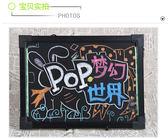 LED小黑板30*40熒光板店鋪黑板廣告牌手寫板電子廣告牌臺式手寫板 js837『科炫3C』