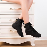 紅舞鞋舞蹈鞋帆布爵士靴男軟底練功鞋民族女成人教師專用黑色舞鞋