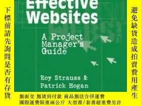 二手書博民逛書店Developing罕見Effective Websites: A Project Manager s Guide