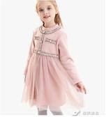 兒童洋裝 女童加絨洋裝秋冬兒童公主裙洋氣加厚小香風紗裙子時髦童裝 樂芙美鞋
