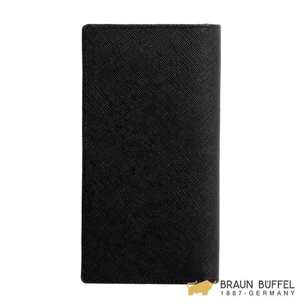 【BRAUN BUFFEL】洛菲諾P-II系列15卡透明窗長夾 -經典黑 BF347-301-BK