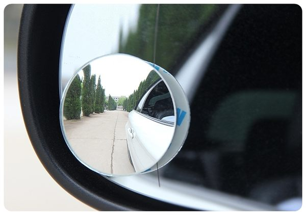 【無邊框廣角鏡】2入 可調角度照後鏡 汽車360度盲點鏡 倒車鏡 反光鏡 凸面鏡 小圓鏡
