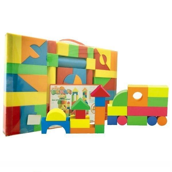 【南紡購物中心】【GCT玩具嚴選】54PCS盒裝EVA積木組