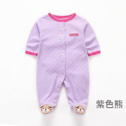 長袖包腳兔裝 女寶寶連身衣 小動物包腳連身裝 XIS4462 好娃娃