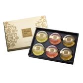 膠原蛋白黃金香氛皂禮盒6入裝(茉莉x2+玫瑰x2+檀香x2)【台鹽生技】
