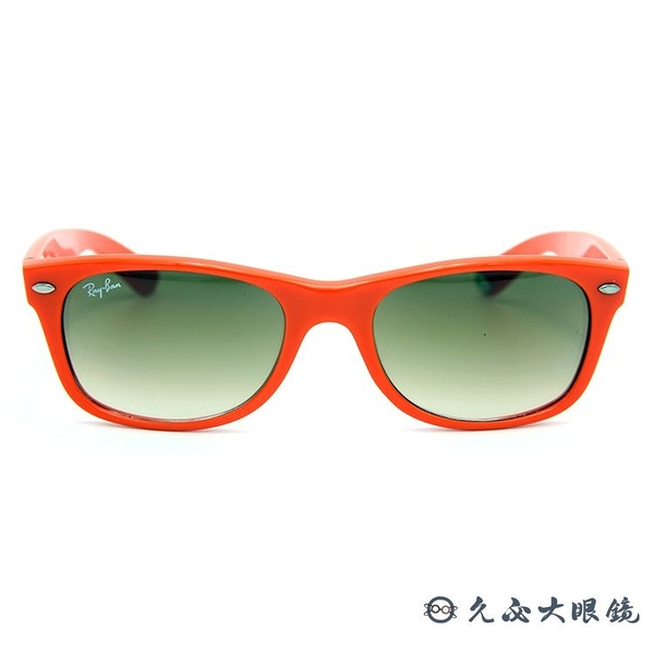 RayBan墨鏡 WAYFARER 經典框型雷朋眼鏡 RB2132 75751 橘 久必大眼鏡