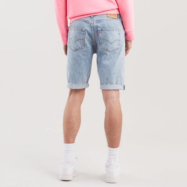 [買1送1]Levis 男款 501經典排釦牛仔短褲 / 褲管不收邊 / 重磅 / 無彈性