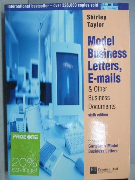 【書寶二手書T9/語言學習_JX2】Model Business Letters, E-Mails&Other…6/e