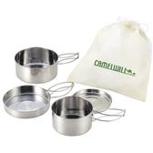 CW-300四件套鍋 19-19024 杯子 盤子 鍋 煎鍋 露營 戶外 登山 野炊 餐具組