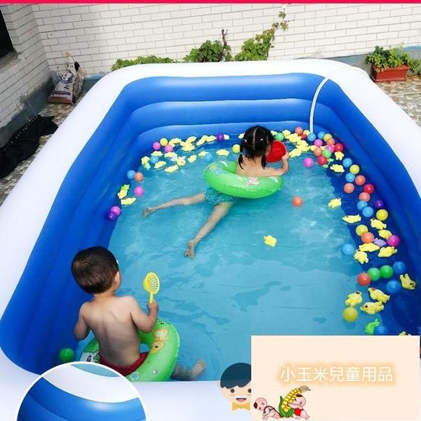 寶寶游泳桶家用折疊室內戶外兒童充氣加厚游泳池嬰兒