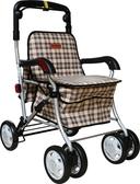 銀髮族購物車-有扶手(F238-1米黃)