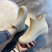 快速出貨 雨鞋女短筒雨靴保暖加絨水鞋低筒水靴防滑洗車買菜廚房鞋 【2021新年鉅惠】