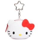【震撼精品百貨】Hello Kitty 凱蒂貓~三麗鷗KITTY迷你矽膠零錢包附鎖圈*40880