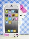 【震撼精品百貨】Hello Kitty 凱蒂貓~HELLO KITTY iPhone5手機造型矽膠殼-偷看(白)