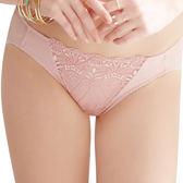 思薇爾-浪漫花伶系列M-XL蕾絲低腰三角褲(紫芋色)