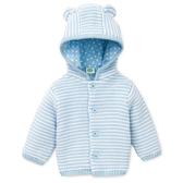 Little me 針織連帽外套 藍橫條 | 男寶寶衣服(嬰幼兒/小孩/baby)