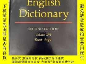 二手書博民逛書店The罕見Oxford English Dictionary.Volume XVI Soot-StyxY114
