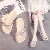 涼拖鞋女外穿夏季2020新款韓版女鞋子厚底時尚百搭涼拖ins潮鞋「艾瑞斯居家生活」