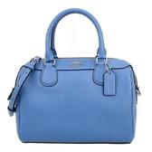 【南紡購物中心】COACH立體馬車防刮皮革手提/斜背兩用波士頓包(蔚藍)