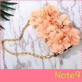 【萌萌噠】三星 Galaxy Note9  韓國立體米色玫瑰保護套 帶掛鍊側翻皮套 可插卡 手機殼 皮套
