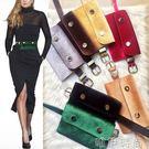 新款韓版女式腰包金絲絨百搭時尚錢包細腰帶兩用皮帶裝手機鑰匙包     唯伊時尚