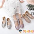 兒童高跟鞋水晶鞋鋼琴表演出鞋女童皮鞋公主鞋禮服鞋【淘嘟嘟】