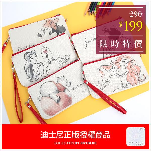 手機袋-迪士尼素描人物手機收納袋-共5色-A11110257-天藍小舖(P)