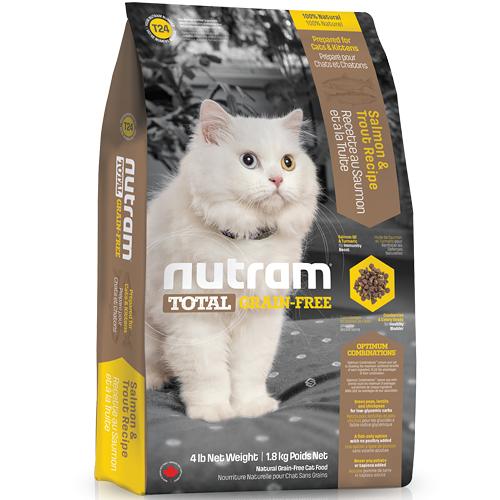 【寵物王國】nutram紐頓-T24無穀全齡貓(鮭魚+鱒魚)6.8kg