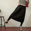 【慢。生活】縮緊腰厚款磨毛棉料長裙 462 FREE黑色
